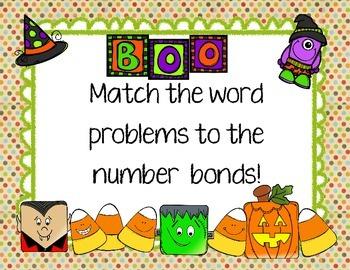 Boo! Word Problem Number Bonds