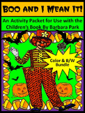 Boo and I Mean It Halloween Activity Packet