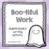 Boo-tiful Bulletin Board Halloween Ghost Writing
