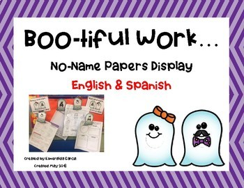 Boo-tiful Work! (No-Name Paper Display) English & Spanish
