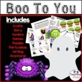 October Activities Halloween Packet