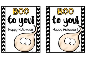Boo to you! Halloween Ghost Gift Tags