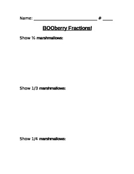 BooBerry Fraction Fun With Cereal