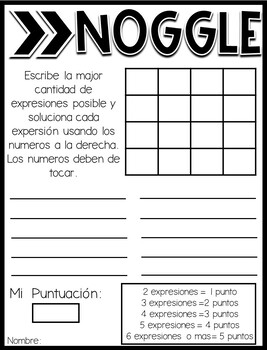 Boogle & Noggle in Spanish