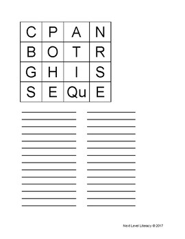 Boogle Word Game Boards