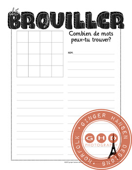 Boogle in French