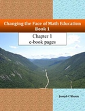 Changing the Face of Math Education Book 1 Chapter 1 e-book pages