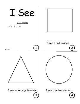 SightWordBook.2.I.see