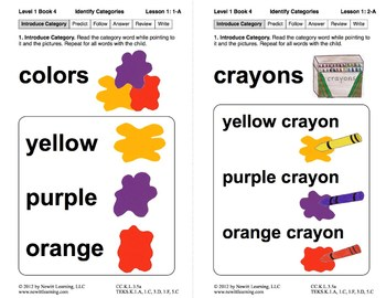Book 4: Identify Categories, Isolate Initials Sounds 1 (Newitt Prereading)