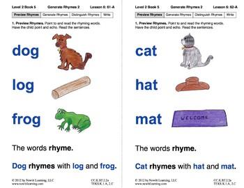 Book 5: Generate Rhymes (Newitt Prereading Series)