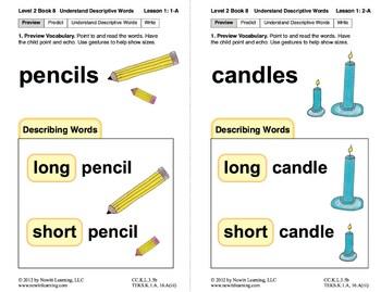 Book 8: Understand Descriptive Words (Newitt Prereading Series)