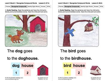 Book 9: Identify Syllables 3, Recognize Compound Words (Newitt Decoding Series)