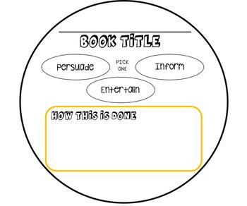 Book-A-Pillar -- Author's Purpose {PRINTABLE!}