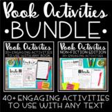 Book Activities BUNDLE   Reading Response Fiction Nonfiction   Distance Learning