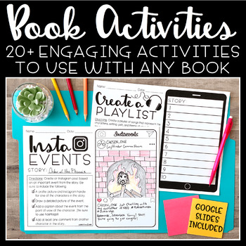 Book Activities   Book Projects For Any Story