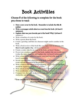 Book Activities: Room 709