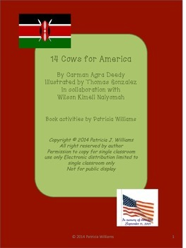 Book Activities for 14 Cows for America