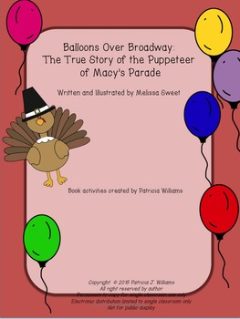 """Book Activities for """"Balloons Over Broadway"""""""
