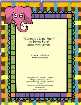 "Book Activities for ""Ganesha's Sweet Tooth"""