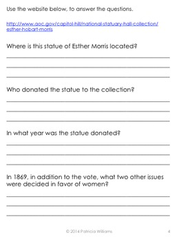 """Book Activities for """"I Could Do That: Esther Morris Gets Women the Vote"""""""