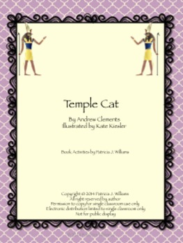 "Book Activities for ""Temple Cat"""