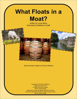 """Book Activities for """"What Floats in a Moat?"""""""