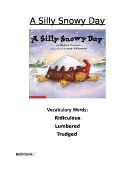 Book Activity: A Silly Snow Day