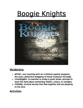 Book Activity: Boogie Nights