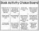 Book Activity Choice Board