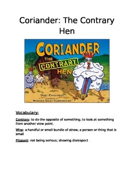 Book Activity: Coriander