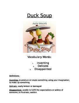 Book Activity: Duck Soup