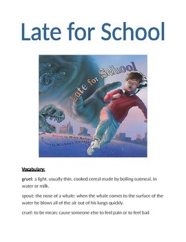 Book Activity: Late for School