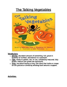 Book Activity: The Talking Vegetables