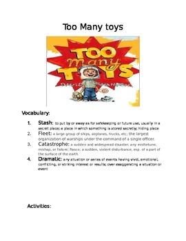 Book Activity: Too Many Toys