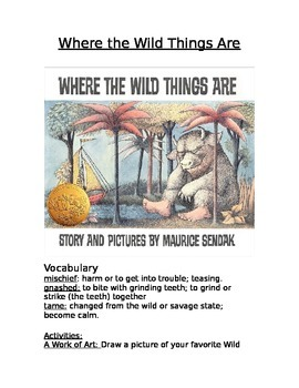 Book Activity: Where the Wild Things Are