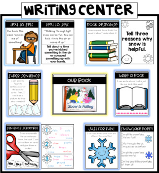 Book Activity Writing Center - Snow is Falling