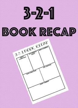 Book Analyzing Recap 3-2-1