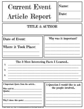 Book, Article, Event Report Template BUNDLE