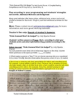 "Book Assessment of  ""Viola Desmond Won't Be Budged"" by Jody Nyasha Warner."