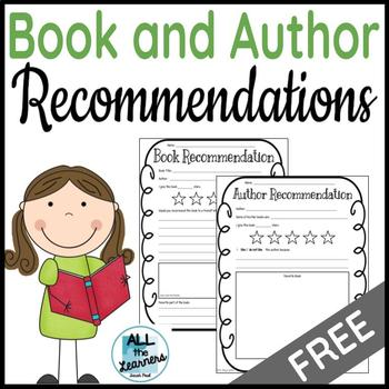 Book & Author Recommendation Pages