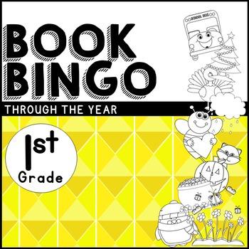 Book BINGO Through the Year for 1st Grade + NEW Editable File!