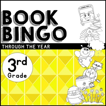 Book BINGO Through the Year for 3rd Grade + New Editable File