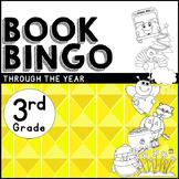 Book BINGO Through the Year for 3rd Grade + New Editable File