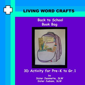 Book Bag Activity for Back to School for Pre-k to Gr. 1
