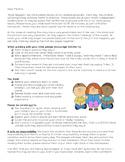 Book Bag (Baggie) Letter to Parents