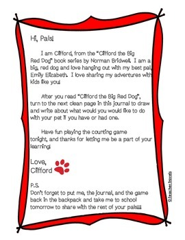 Book Bag Buddy to go along with Clifford the Big Red Dog by Norman Bridwell
