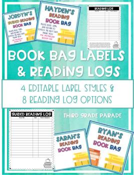 Book Bag Labels & Reading Logs