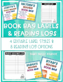 Book Bag Labels & Reading Logs