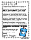 Book Bag Introduction Parent Letter Home - EDITABLE