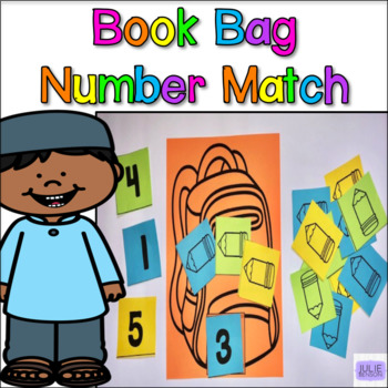 Book Bag Number Match